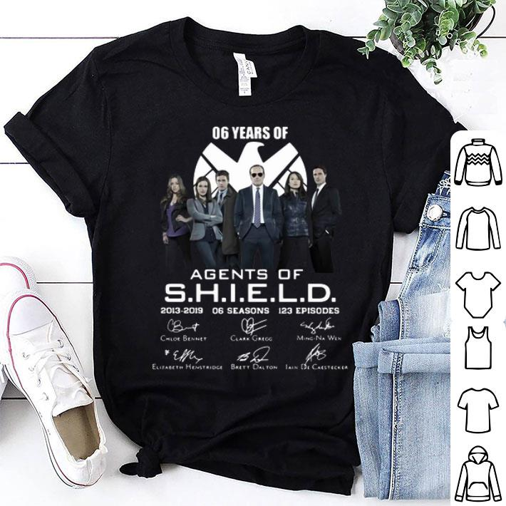 06 years of Agents Of SHIELD 2013-2019 06 seasons signatures shirt