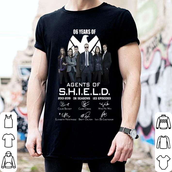 - 06 years of Agents Of SHIELD 2013-2019 06 seasons signatures shirt
