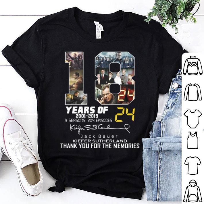 - 18 years of 24 2001-2019 Jack Bauer Kiefer Sutherland signature shirt