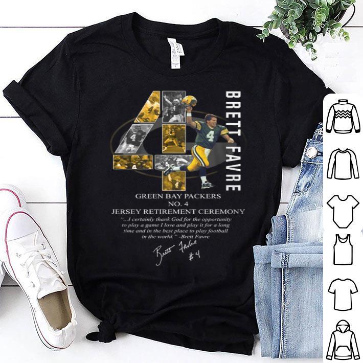 - 4 Brett Favre Green Bay Packers signature shirt