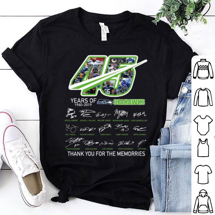 45 Years Of Seahawks 1960-2019 thank you for the memories shirt