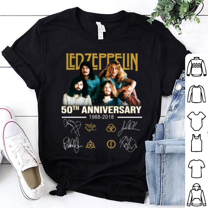 - 50th anniversary Ledzeppelin 1968-2018 signatures shirt