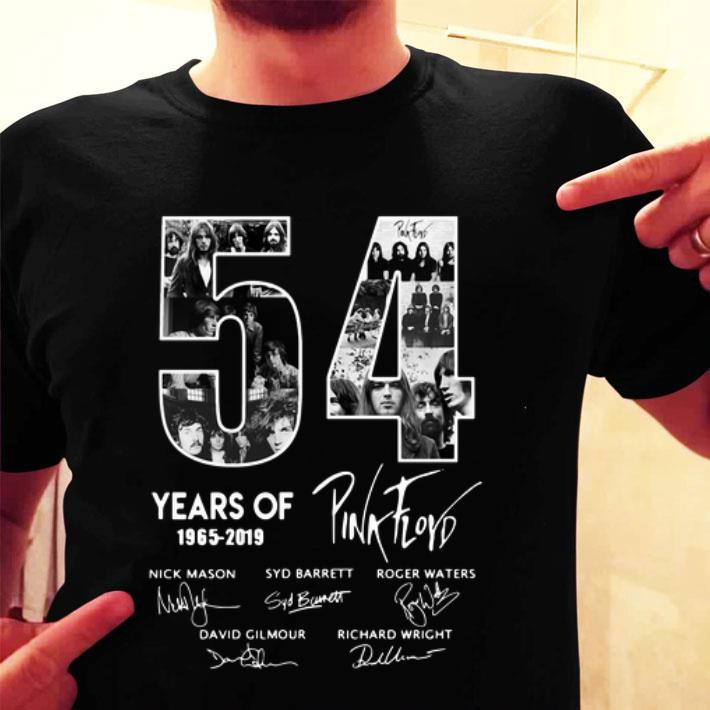 - 54 Years Of Pink Floyd 1965-2019 Signatures shirt