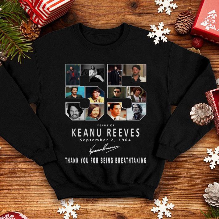 55 Years of Keanu Reeves september 2 1964 signature shirt