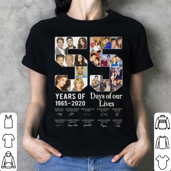 - 55 years of Days of Our Lives 1965-2020 signatures shirt
