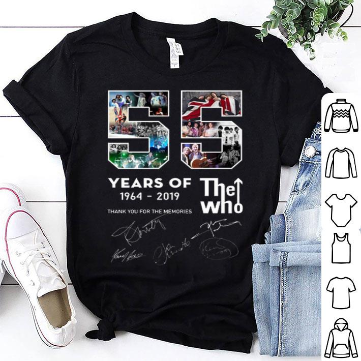 - 55 years of The Who 1964-2019 thank you for the memories shirt