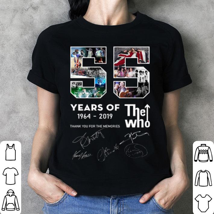 55 years of The Who 1964-2019 thank you for the memories shirt