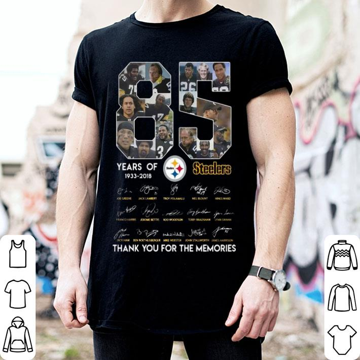 85 years of Steelers 1933-2018 thank you for the memories shirt