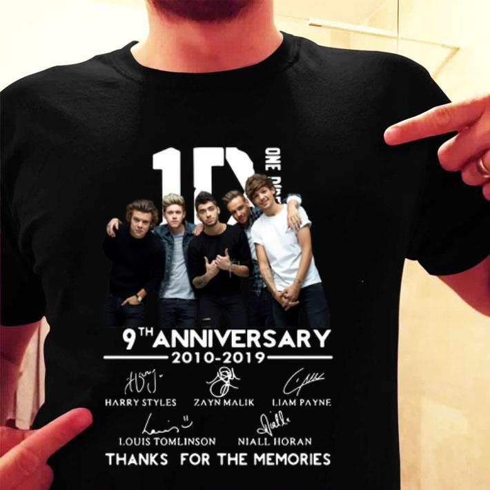 - 9th Anniversary One Direction 2010-2019 signatures shirt