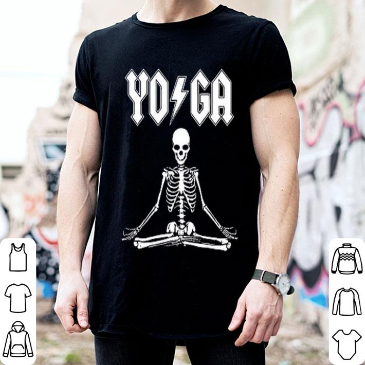 - ACDC Skeleton YOGA shirt