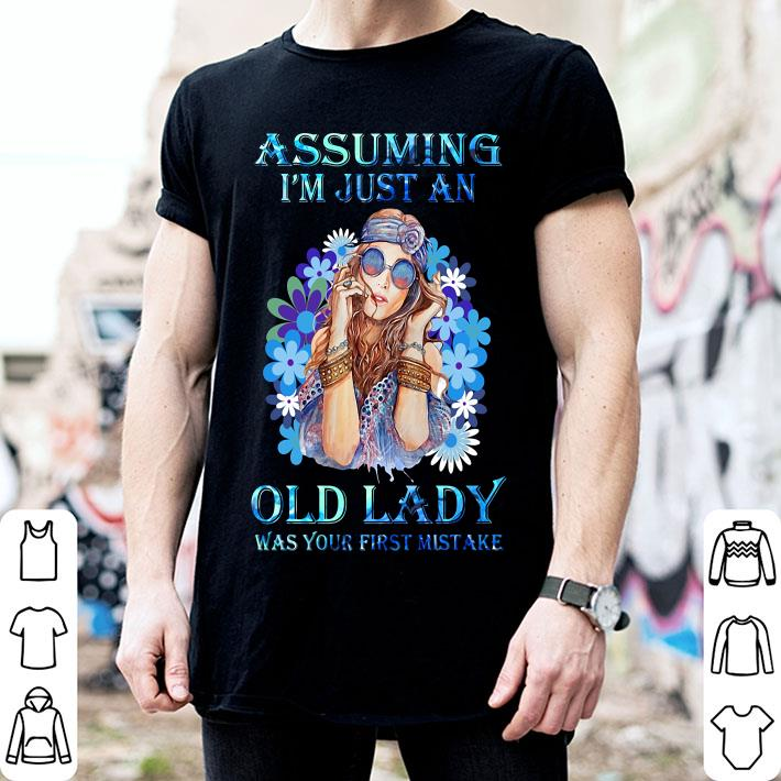Assuming I'm just an old lady was your first mistake flower girl shirt