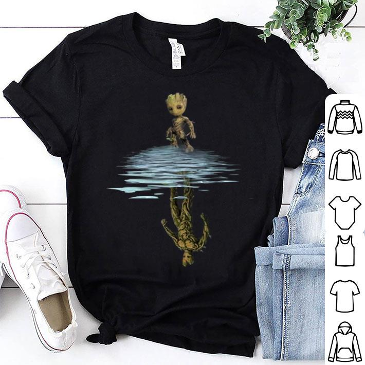 - Baby Groot reflection water mirror Groot abundanceshirt