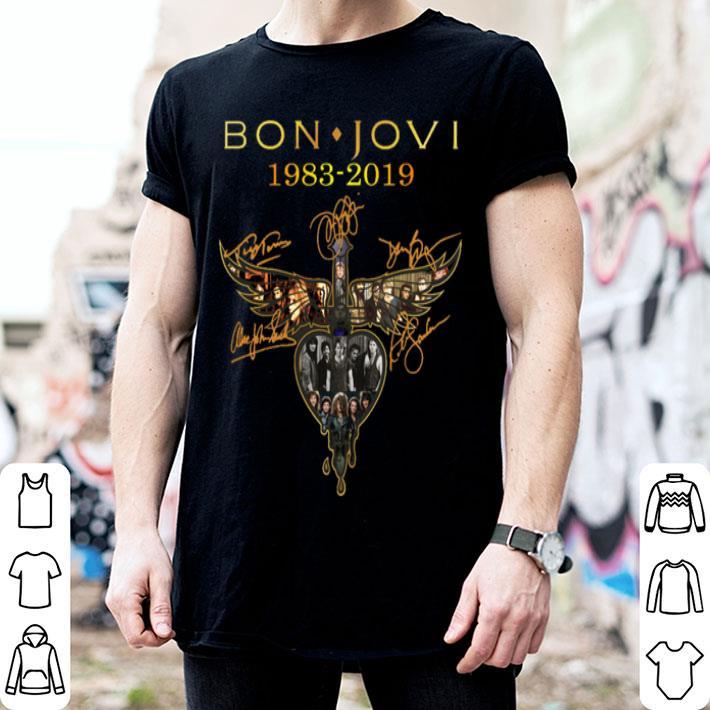 Bon Jovi 1983-2019 signatures shirt