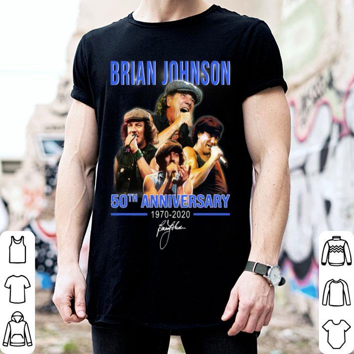 - Brian Johnson 50th Anniversary 1970-2020 signature shirt