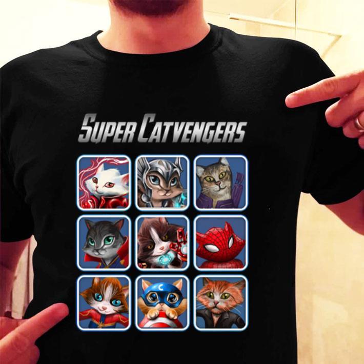 - Cat Super Catvengers Avengers shirt