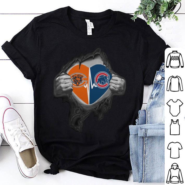 - Chicago Bears inside my heart Chicago Cubs shirt