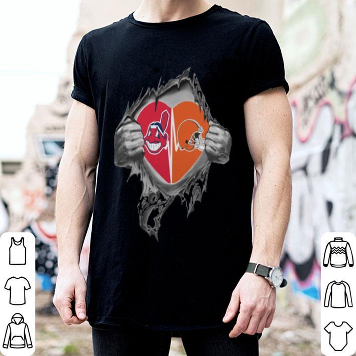 - Cleveland Browns Cleveland Indians inside my heart shirt