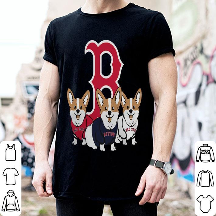 - Corgis Boston Red Sox shirt