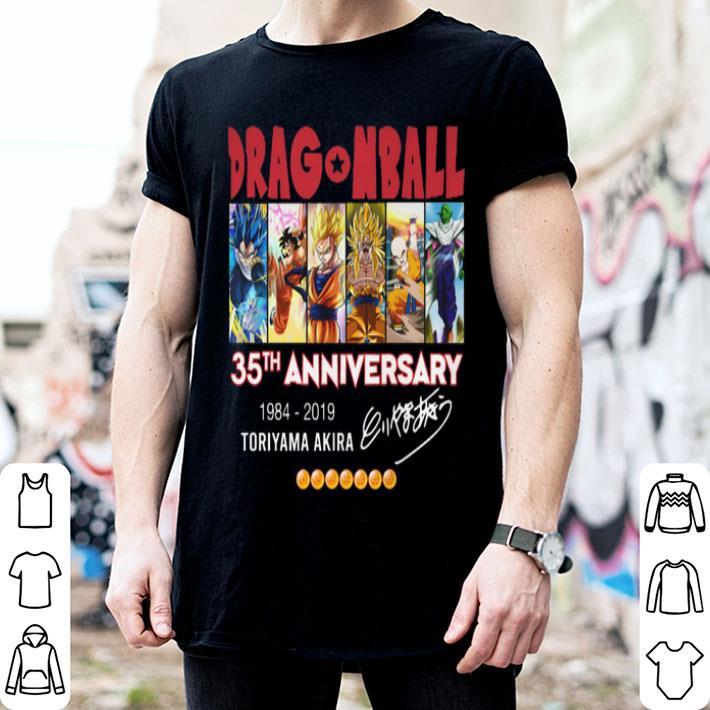 - DragonBall Z 35th anniversary 1984-2019 Toriyama Akira Signature shirt
