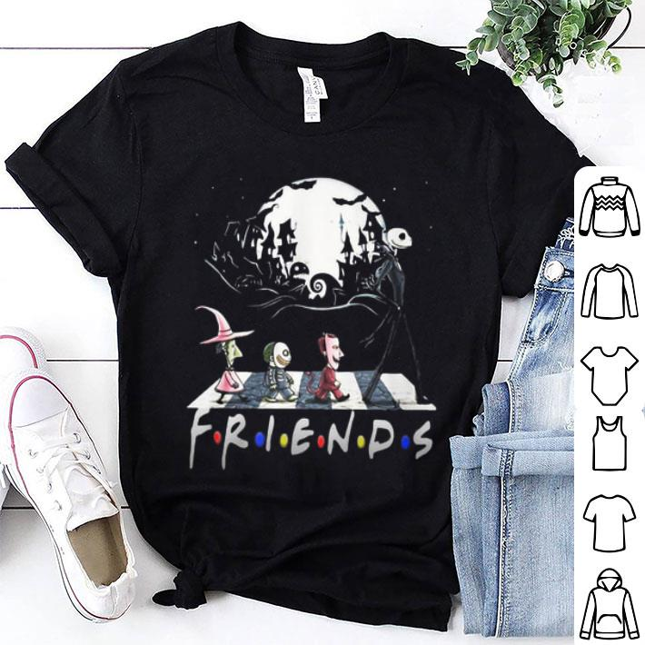 Friends The Nightmare Before Christmas Abbey Road Halloween shirt