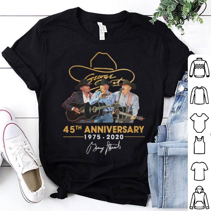 - George Strait 45th anniversary 1975-2020 signature shirt
