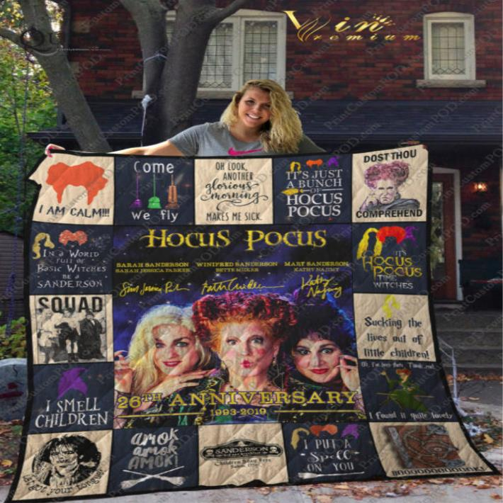- Hocus Pocus 26th Anniversary 1993-2019 Squad i am calm quilt blanket