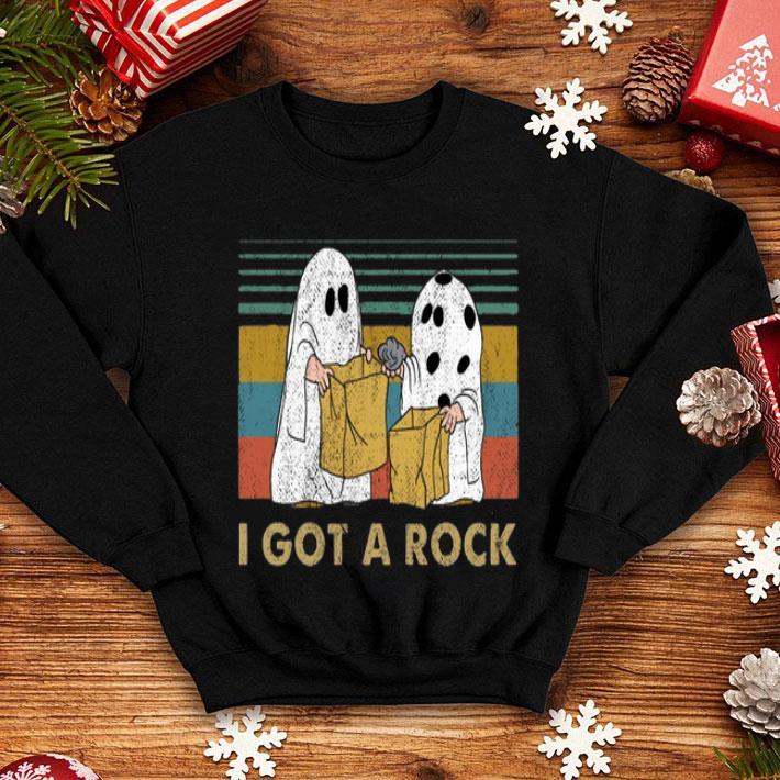 I Got A Rock Vintage Charlie Brown Snoopy Halloween shirt