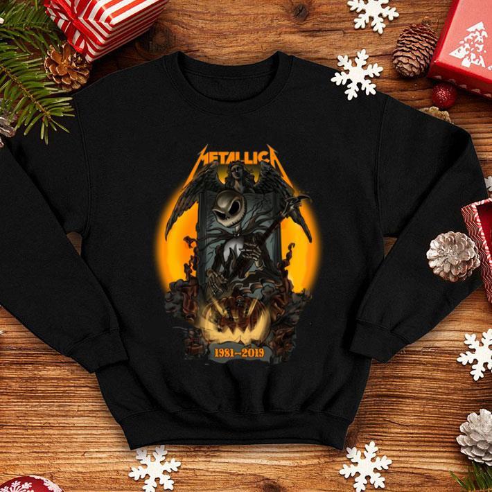 Jack Skellington Metallica 1981-2019 Halloween shirt