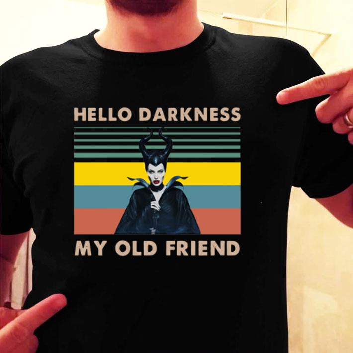 - Maleficent hello darkness my old friend vintage shirt