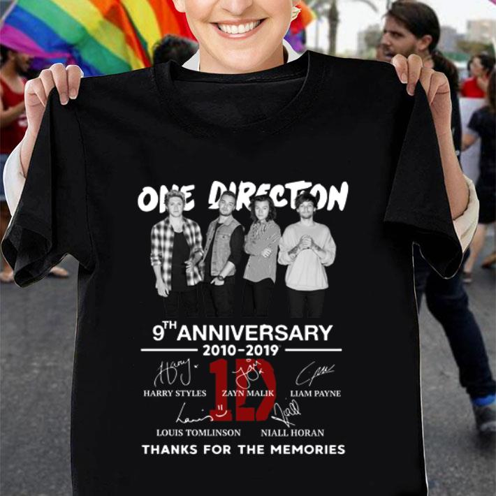 One Direction 9th anniversary 2010-2019 thanks for the memories shirt