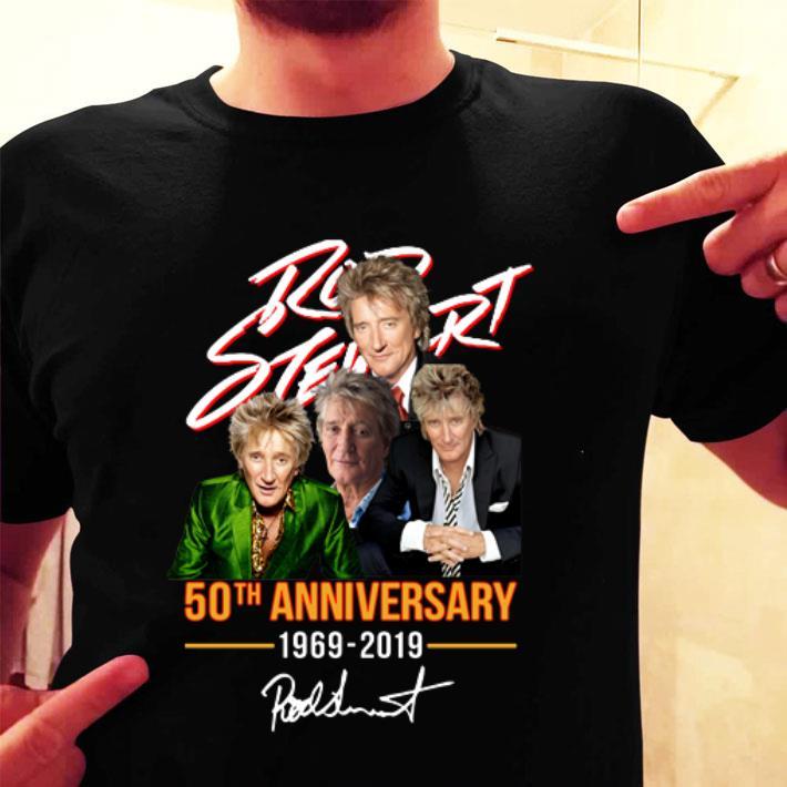 - Rod Stewart 50th anniversary 1969-2019 signature shirt