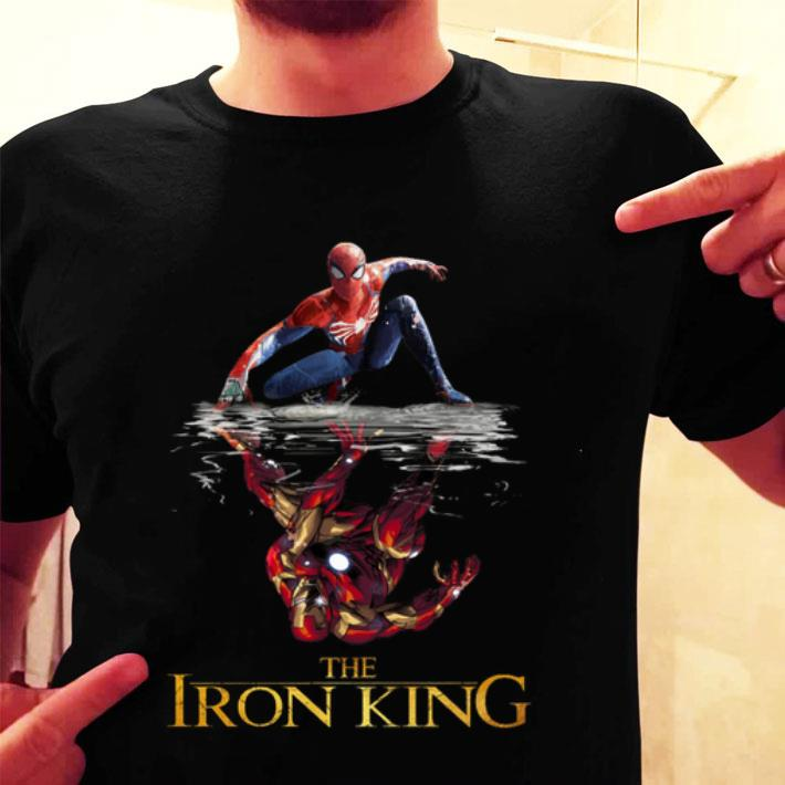 - Spider Man reflection Iron Man The Iron King shirt