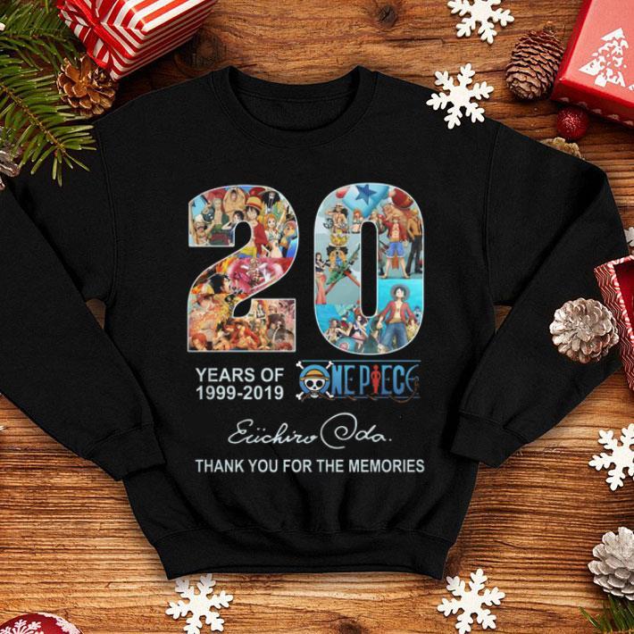 20 Years of One Piece Oda Eiichiro thank you for the memories shirt
