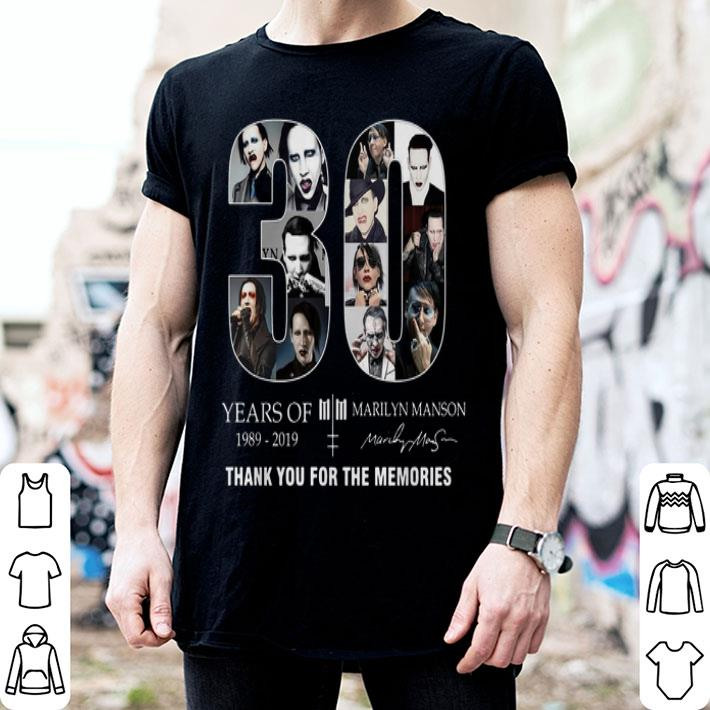 - 30 Years of Marilyn Manson 1989-2019 thank you for the memories shirt