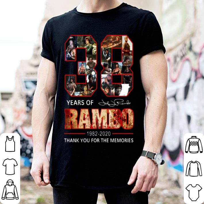 38 Years Of Rambo 1982-2020 Signature Thank You For The Memories shirt