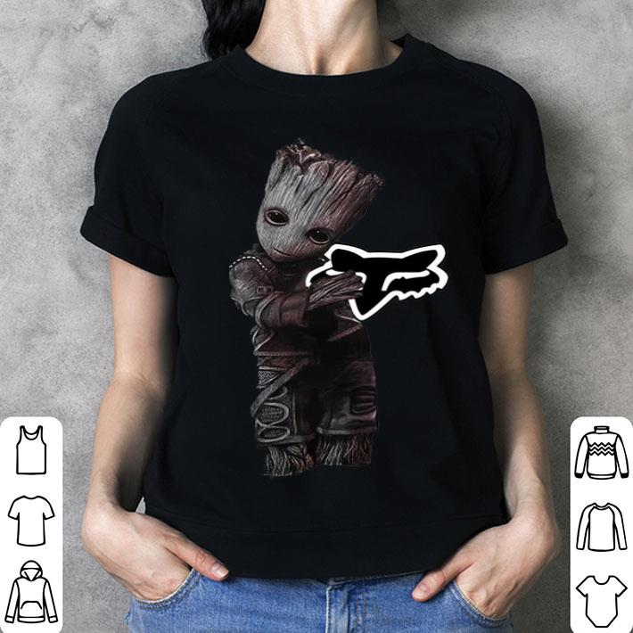 - Baby Groot hug Fox Racing shirt