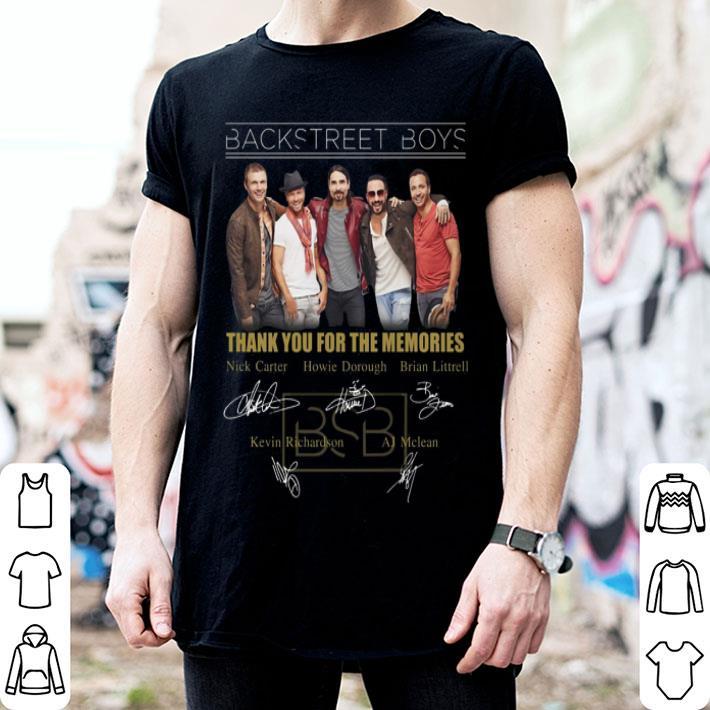 - Backstreet Boys thank you for the memories signatures shirt