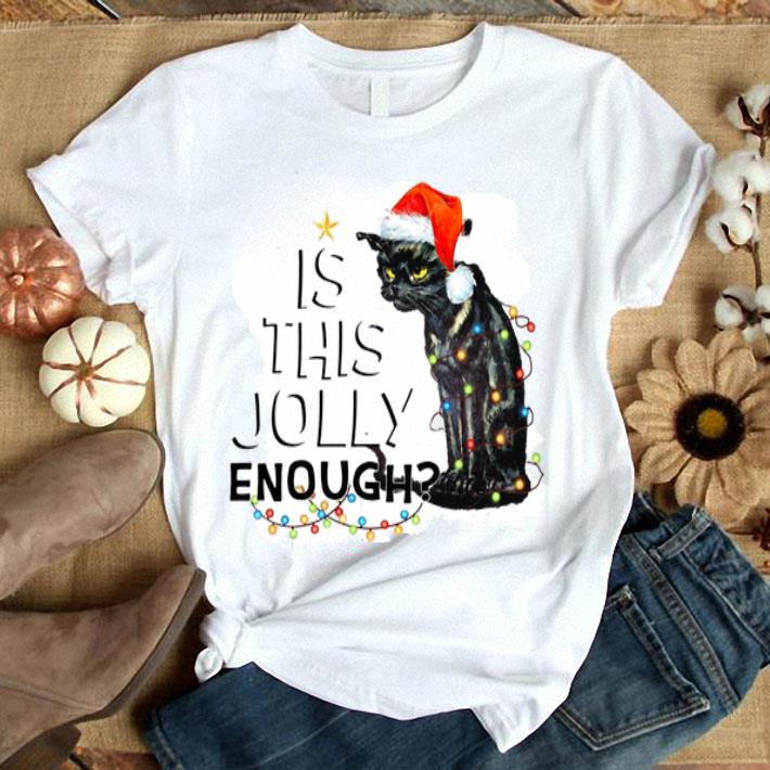 - Black cat is this jolly enough Christmas Lights shirt