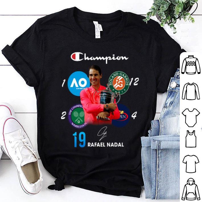 Champion Wimbledon Rafael Nadal 19 Roland Garros US Open shirt