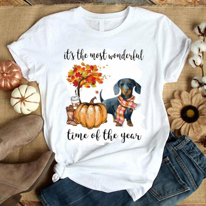 - Dachshund it's the most wonderful time of the year Autumn shirt