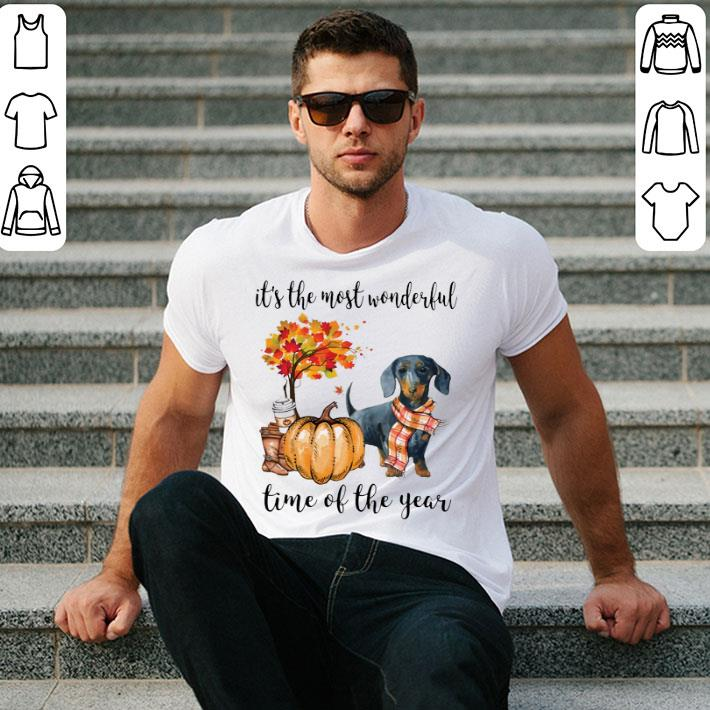 Dachshund it's the most wonderful time of the year Autumn shirt