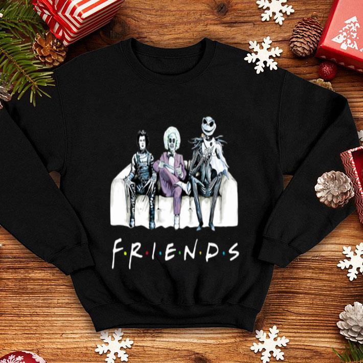 - Friends tv show Beetlejuice Edward Scissorhands Jack Skellington shirt