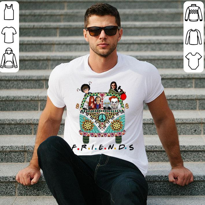 Hippie bus friends Horror movie characters shirt