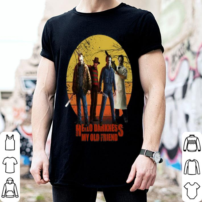 Horror film characters hello darkness my old friend shirt