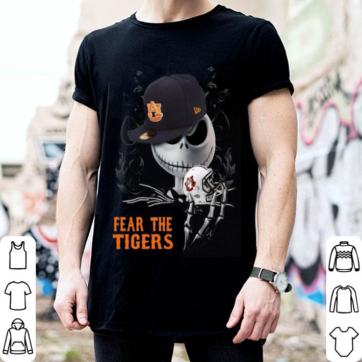 - Jack Skellington Fear the Auburn Tigers shirt
