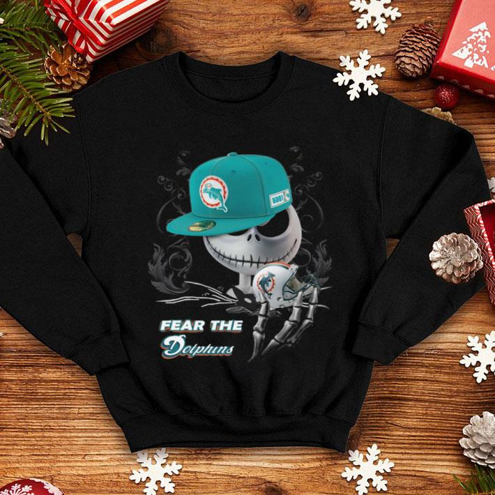 newest 83f20 6cbbf Jack Skellington fear the Miami Dolphins shirt, hoodie, sweater