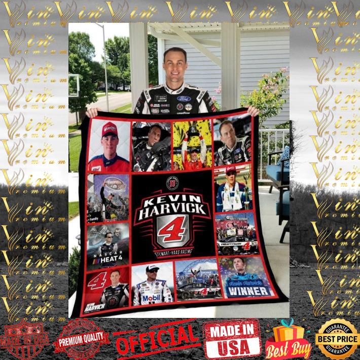 Kevin Harvick NASCAR 4 quilt blanket 1