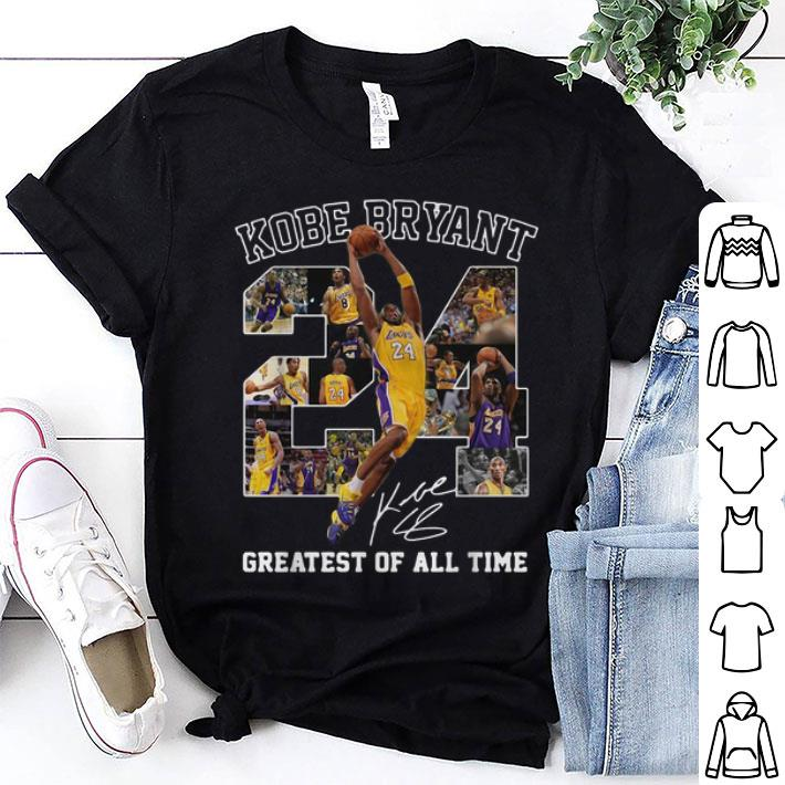 - Kobe Bryant greatest of all time signature shirt