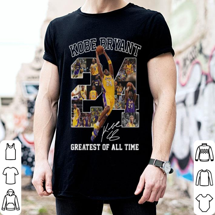 Kobe Bryant greatest of all time signature shirt