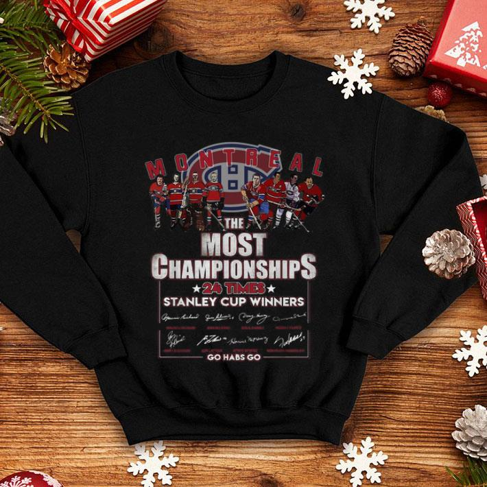 the best attitude ff642 4595c Montreal Canadiens The Most Championships 24 times Stanley Cup shirt,  hoodie, sweater